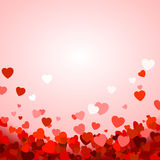 Valentine`s day background with hearts Stock Photo