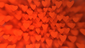 Valentine`s Day background from huge amount of red hearts Royalty Free Stock Photography