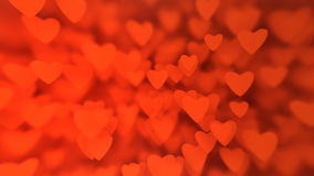 Valentine`s Day background from huge amount of red hearts Royalty Free Stock Photo