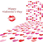 Valentine's day background illustration Stock Photo