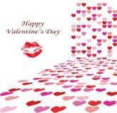 Valentine's day background illustration stock photo