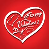 Valentine's day background illustration Stock Photos