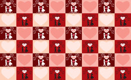 Valentine's day background. Valentine's day large seamless background Royalty Free Stock Photos