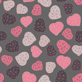 Valentine's Day background. Low-poly polygonal. Stock Photography