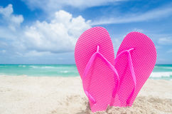Valentine`s day background on the Miami beach Royalty Free Stock Image