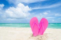Valentine`s day background on the Miami beach Royalty Free Stock Photos