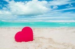 Valentine`s day background on the Miami beach Stock Photos