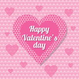 Valentine's Day Background. Pink heart illustration for valentine's day greeting card Royalty Free Stock Image