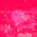 Valentines day background with pink hearts Royalty Free Stock Photography