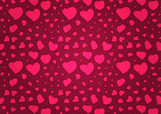 Valentine's Day Background With Pink Hearts Royalty Free Stock Photography