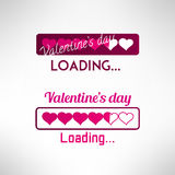 Valentine's day background. Progress bar. Vector. Valentine's day background. Progress bar with hearts. Vector illustration Stock Image