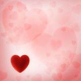 Valentine's day background with red heart Royalty Free Stock Images