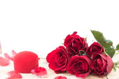 Valentine's day background with red roses. Valentine's day background with beautiful red roses Royalty Free Stock Photo