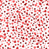 Valentine`s day background, romantic texture. Hearts confetti backdrop. Royalty Free Stock Photos