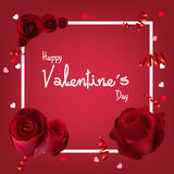 Valentine`s Day Background With Roses Stock Image