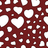 Valentine's Day Background Seamless Pattern Stock Images