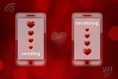 Valentine's day background - sending love Stock Image