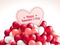 Valentine's day background with shining hearts. Royalty Free Stock Images