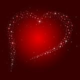 Valentine's Day background with starry heart Royalty Free Stock Image
