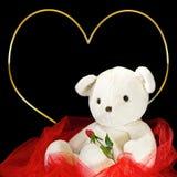 Valentine's Day Background - Teddy Bear/Heart Stock Photos
