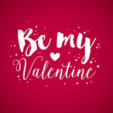 Valentine's Day background with text Be my Valentine Stock Image