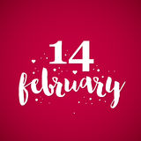 Valentine's Day background with text 14 february Royalty Free Stock Image