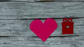 Valentine`s day background. Heart stop motion stock video footage