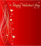 Valentine's day background with wave design Stock Photography