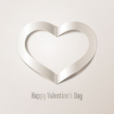 Valentine's Day background with white heart. Editable blend options. Royalty Free Stock Image