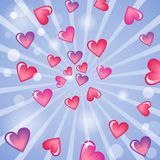 Valentine S Day Background With Hearts Royalty Free Stock Photo