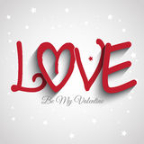 Valentine's Day background with the word love Stock Images