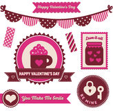 Valentine's Day - Badges and Elements Royalty Free Stock Photography