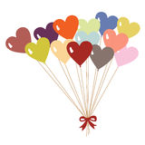 Valentine's day(balloon) Stock Photo