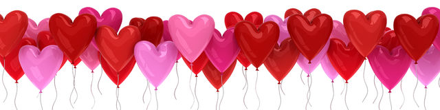 Valentine`s day balloon hearts. 3d render Stock Images
