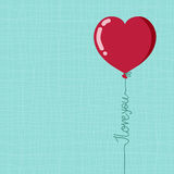 Valentines day balloon, vector Stock Photo