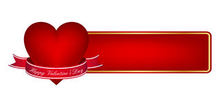 Valentine's day banner. Isolated on white background Stock Images