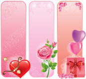 Valentine's Day banner Stock Images