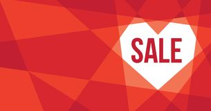 Valentine`s Day Banner Design Polygon Retro Royalty Free Stock Image