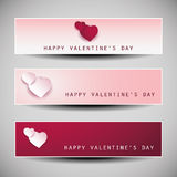 Valentine's Day Banner Designs Royalty Free Stock Photography