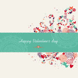 Valentine`s day banner greeting card Royalty Free Stock Photography