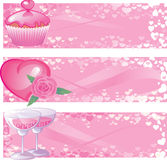 Valentine's Day banners Stock Photo