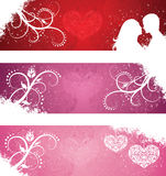 Valentine's day banners. Royalty Free Stock Photos