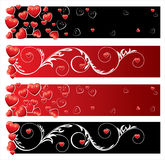 Valentine's day banners. Vctor illustration Royalty Free Stock Photos