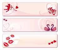 Valentine's Day banners Stock Images