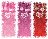 Valentine's day banners. Royalty Free Stock Images