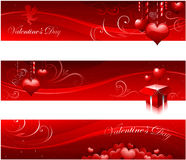 Valentine's day banners Royalty Free Stock Image