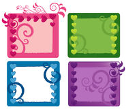 Valentine's Day Banners Set Stock Images
