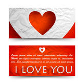 Valentine`s day banners set. Design concept Stock Image