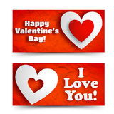 Valentine`s day banners set. Design concept Stock Images