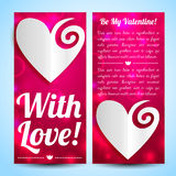 Valentine`s day banners set. Design concept Royalty Free Stock Images